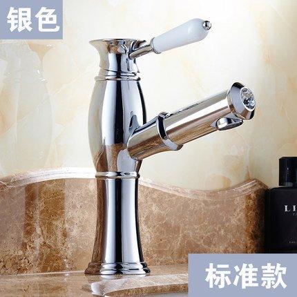 D Hlluya Professional Sink Mixer Tap Kitchen Faucet Antique pull-down faucet bronze basin-wide scale redation J