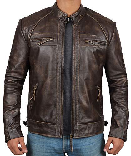 - Blingsoul Real Leather Biker Jacket Men| [1100113] Claude, M