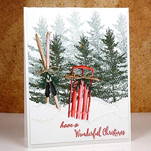 Winter Metal Cutting Dies/&Stamp Stencil DIY Scrapbooking Gift Card Decor Crafts