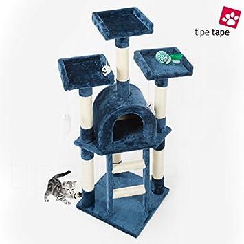 Rascador con cesto para gatos - Parque de juegos para gatos, 115 cm, azul: Amazon.es: Bricolaje y herramientas