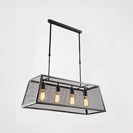 Brillante y fácil de instalar Caja de techo de hierro forjado lámpara de cristal / Loft industrial