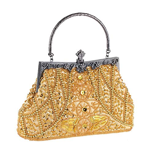 Special Gray Clutch Gold Purse Bag Women Occasion Evening Clutches Color Evening Bags Handbags Beading Sensexiao Cx8Oqf1w8