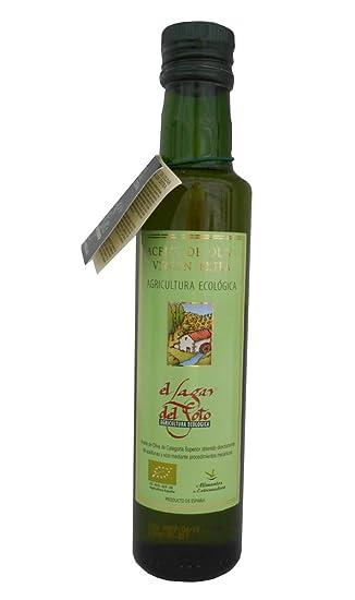 Aceite de Oliva Virgen extra Ecológico del Lagar del Soto en botellín cristal de 500ml