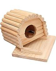 YUnnuopromi Pet House, a Forma di Arco Circolare Mouse Gabbia per criceti in Legno Nido casa Letto mordere Giocattolo per Puppy Supplies