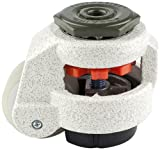 FOOTMASTER GD-60S-1/2-UW Urethane Wheel and NBR Pad Leveling Caster, 550 lbs, Stem Mounted with 0.5