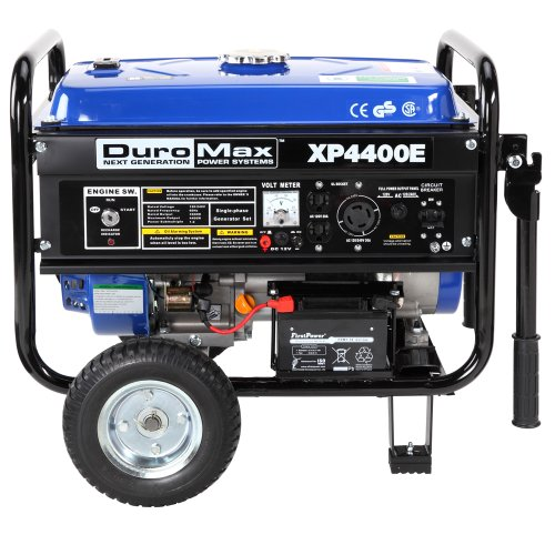 DuroMax XP4400E, 3500 Running Watts/4400 Starting Watts, Gas Powered Portable Generator with Wheel Kit