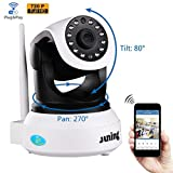 Cheap Security Cameras Wifi Wireless 720P HD (Day/Night Vision,baby monitor,2 Way Audio,SD Card Slot, Alarm) by JUNING