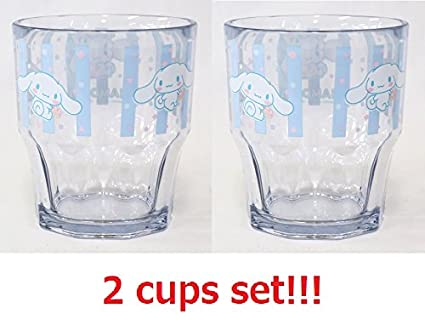 Amazon 2 Cups Set OSK Sanrio Cinnamoroll Plastic Cup Blue