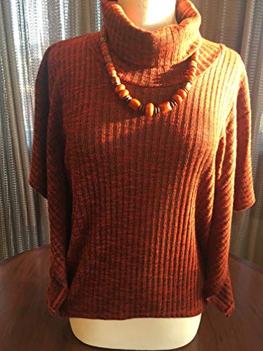 Custom Couture S rust tunic withrust beaded necklace 1703