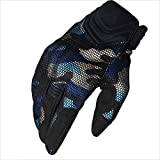 ZDYLL Sports and Outdoors Off Road Gloves Durability Cycling Bike Bicycle MTB DH Downhill Dirt Bike ATV & Motorcycle Glove Comfortable Fit (Color : Camouflage Blue, Size : M)