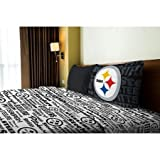 NFL Anthem Pittsburgh Steelers Bedding Sheet Set: Twin