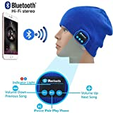 I-Sonite (Blue) Unisex One Size Winter Beanie Hat With Built-In Wireless Stereo Speaker Headphone For Oppo F3 Plus