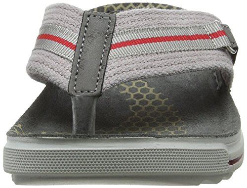 INBLU Men's Piston Flip Flops, Grey Grey (Grigio 025)