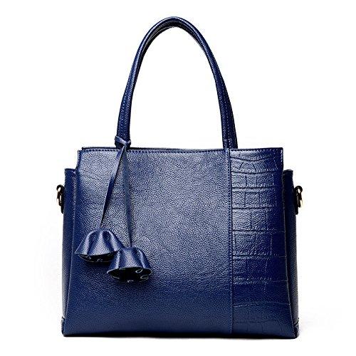 Bolsas Hombro Bolso Nueva Bolso Nuevas blue Meoaeo Moda Señoras del Cuero De Claret Fq4Cn5w