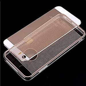 SHOUJIKE Acrylic+TPU Horizontal Stripes Ultra-thin Transparent Back Case for iPhone 5/5S (Assorted Color) , Blue