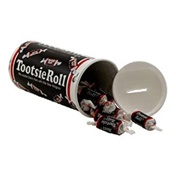 tootsie roll bank 4oz re usable bank filled with midgees amazon