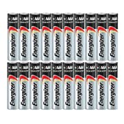 Energizer AAA Max Alkaline E92 Batteries Made in USA - Expiration 12/2024 or later - 20 count