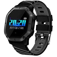 Opta SB-062 Aluminium Heart Rate Monitor Smart Watch (Black)