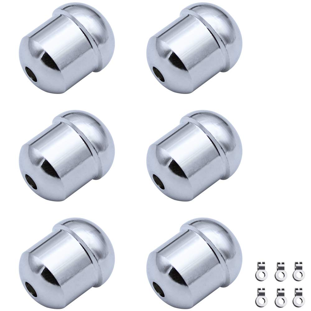 6Pcs Chrome-Plated Weighted Acorn Cord Pull Cord with Cord Connector Bead Chain Connector for Light Fan Shower Switch LumenTY