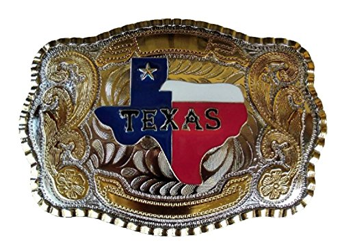 [Texas Map State Color Flag Long Huge Rodeo Big Cowboy Western Shine Belt Buckle] (Big Cowboy Belt)