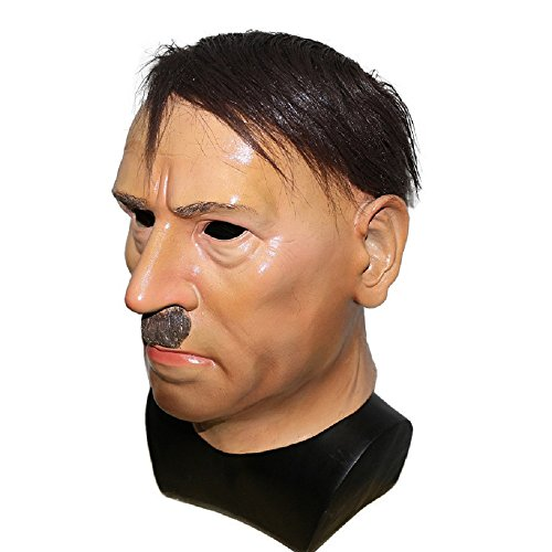 Realistic Cosplay Latex President Donald Trump Party Costume Celebrity Obama Hitler Halloween Masquerade Carnival Mask (Hitler)