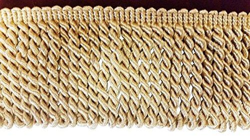 Luxurious Gold Color Bullion Fringe Designer Trim 3 1/4
