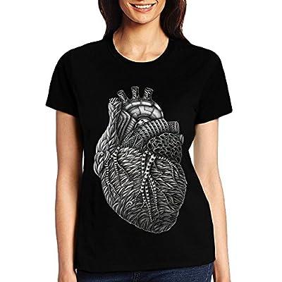 WANGGUANN Women Cotton Digital Painting BeautyRound Collar Twenty-One-Pilots T-Shirt