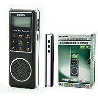 Degen DE1127 AM/FM/SW Pocket Radio with 4GB MP3 Player, Voice Recorder & E-book Reader
