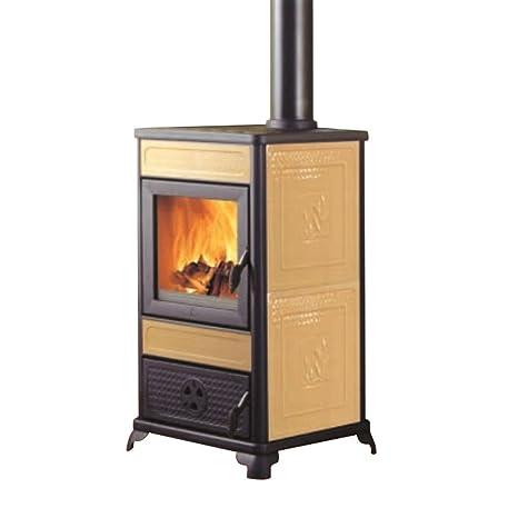 EDILKAMIN Estufa termostufa a leña 11 kW Burdeos Calefacción Agua Casa 274120: Amazon.es: Hogar