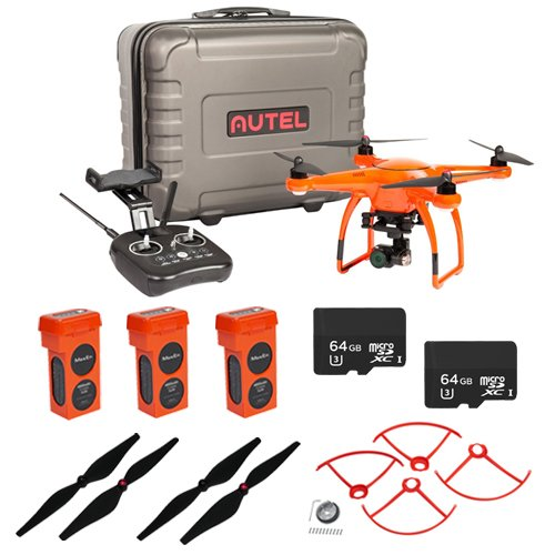 Autel-Robotics-X-Star-Premium-Drone-with-4K-Camera-HD-Live-View-Orange-EVERYTHING-YOU-NEED-KIT-3-Total-X-Star-Batteries-2-Total-64GB-Micro-SDXC-Cards-Propeller-Guards-Propellers-Hard-Case