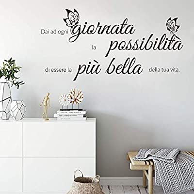 Adesivi Murali Con Citazioni.Decalmile Adesivo Murali Frasi Scritte Dai Ad Ogni Giornata La