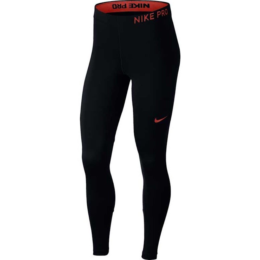 NIKE Pro Women's Training Tights (Black/Rush Coral, L) by NIKE