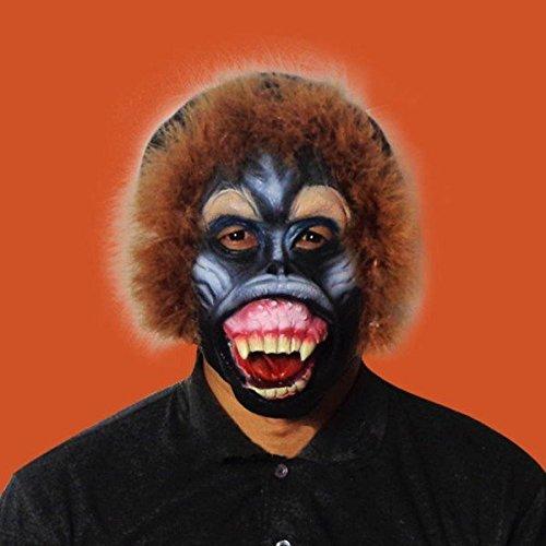 Pink Lizard Halloween Baboon Monkey Orangutan Leopard Latex Animal Face Mask Costume (Baboon Latex Mask)