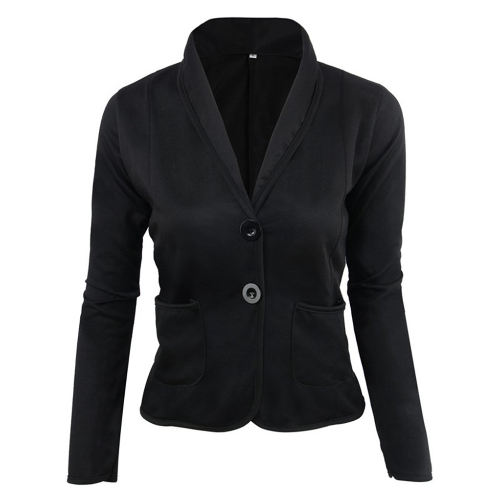Minzhi Cardigan Short Suit Donna Slim Due Bottoni Office Short Sleeve Casual Jacket Casual Jacket Outwear Coat Overcoat