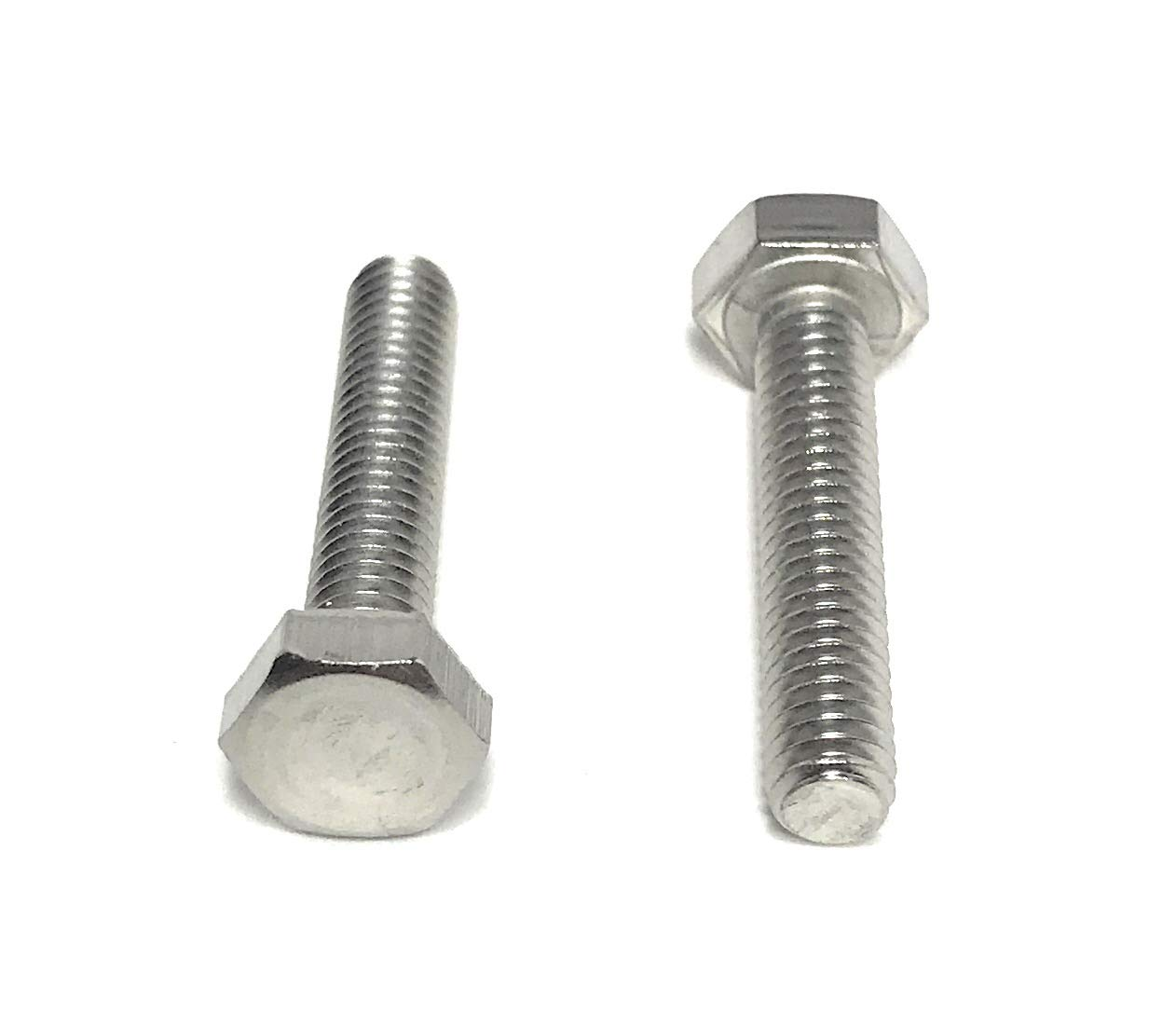 M6 X 40 Hex Head Set Screws Fully Thread Bolts A2 stainless DIN 933-4 pack