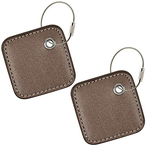 Case Compatible for Tile Mate 2020/2018/ 2016- Key Finder, Phone Finder, Anything Finder - Item Locator with Replaceable Battery - 2 Pack(Brown)(Cover ONLY)