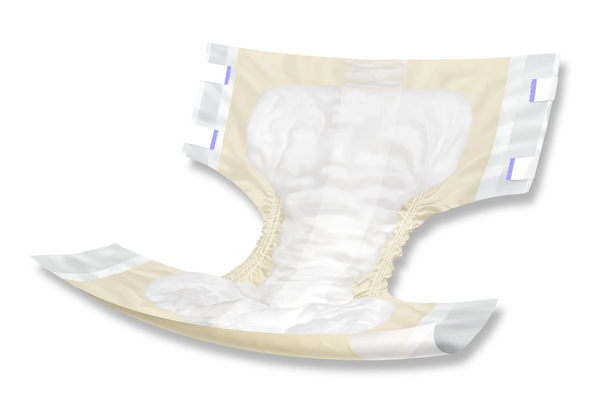 Medline COMFORTPMMD ComfortAire PM Extended Wear Briefs, Medium, 32''-44'' (Pack of 72)