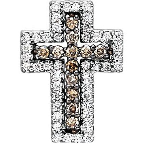 1/2 ct tw Diamond Cross in 14k White Gold (1/2 Ct Tw Diamond Cross)