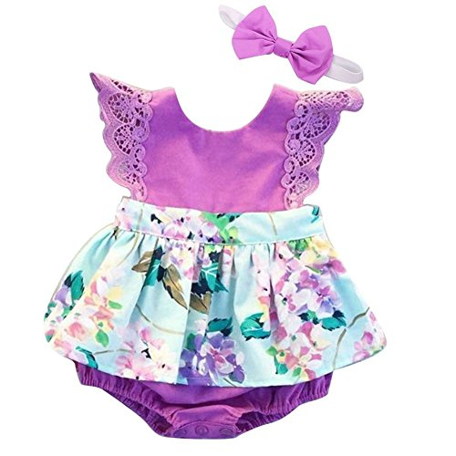 Purple Floral Outfit - 8