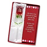 #8: Forever Rose - Valentines Day or Special Occasion - Say I Love You with this Handmade Glass Roses with Love Poems 5