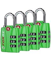 Forge TSA Locks 2 Packs - Open Alert Indicator, Easy Read Dials, Alloy Body
