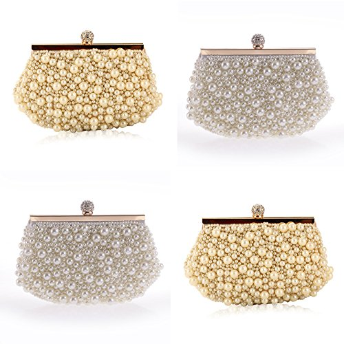 Evening Bag and Clutches Purse Clutch Pearl Beaded Evening Handbag for Women