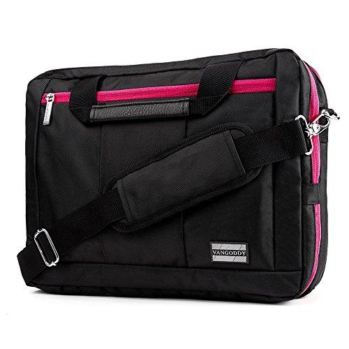 Business Laptop Bag Sleeve Backpack Messenger Bag 15.6 to 17.3 Asus ZenBook Touch / K553 / Dell Inspiron 17 / Latitude 15.6 / XPS 15 / Precision 17 / Precision 15 / Precision / Inspiron 15 7000 schwarz/magenta deorvzcs