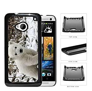 Cute Baby Polar Bear Animal in White Snow Hard Snap on Phone Case Cover Android HTC One M7