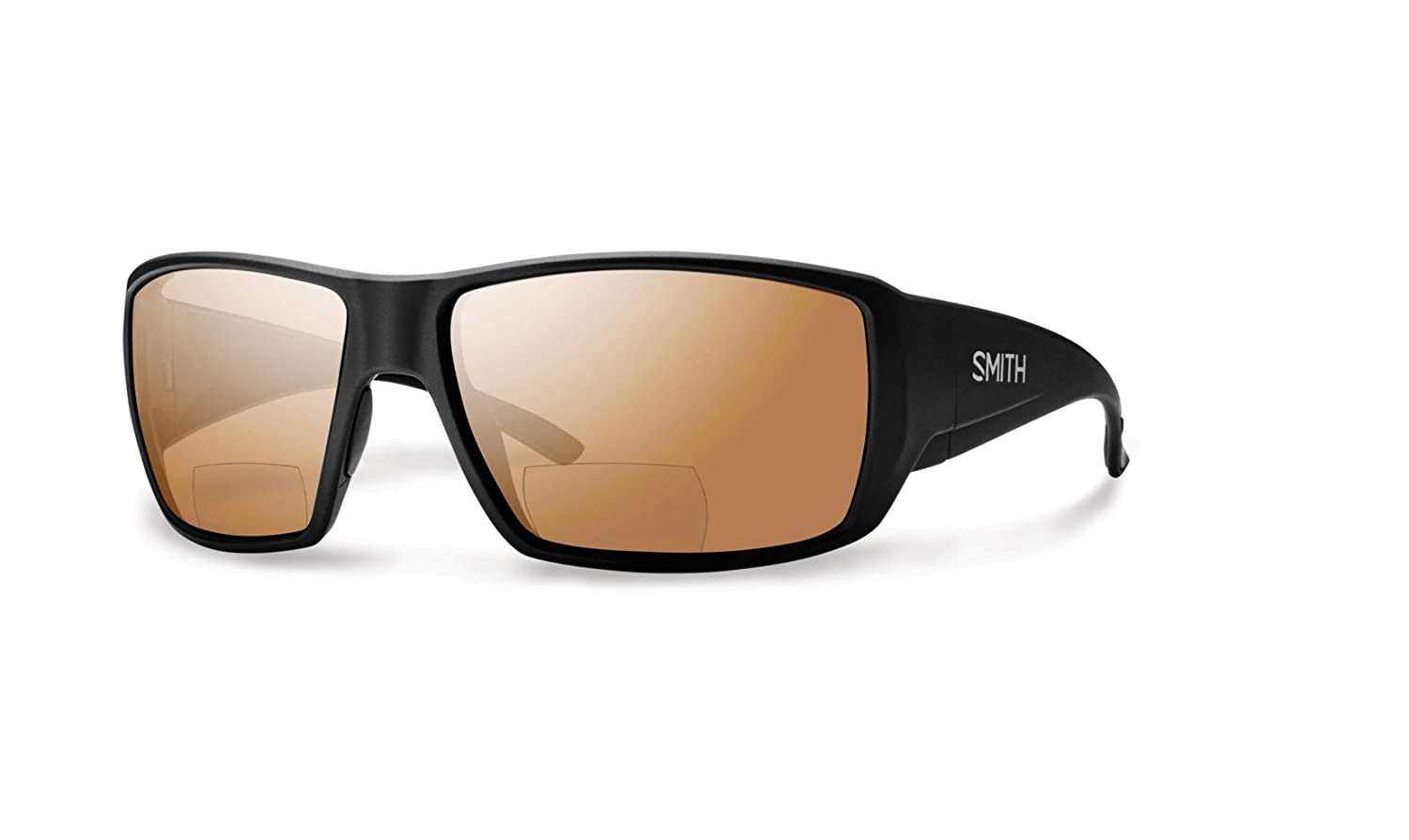 fd93aabb8 Smith Guides Choice Bifocal Polarized Sunglasses - Men's Matte Black/Copper  Mirror 2.50, One Size at Amazon Men's Clothing store: