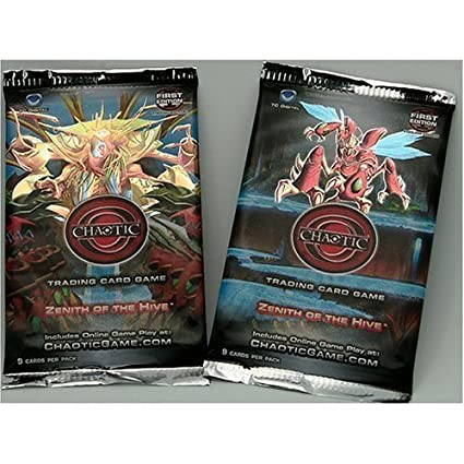 2 (Two) Packs of Chaotic Trading Card Game - Zenith of the Hive ...