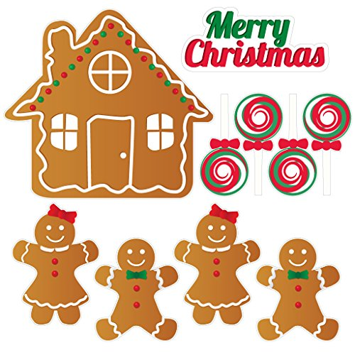 Gingerbread House - Christmas Lawn Display/Yard Card Set - 7 pcs total by ()