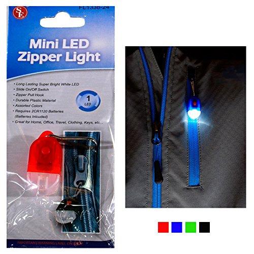 Zipper Flashlight Light Bright Torch