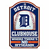 MLB Detroit Tigers 11/17-Inch Traditional Look Wood Sign