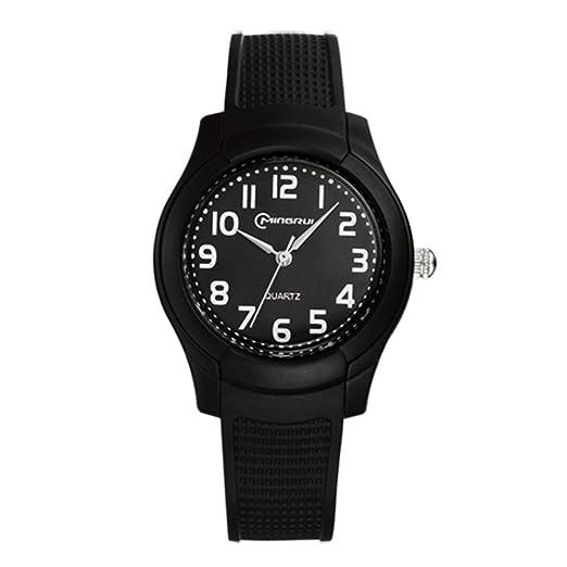 Relojes baratos para hombre y mujer/Reloj de cuarzo de moda/Impermeable reloj deportivo-A: Amazon.es: Relojes